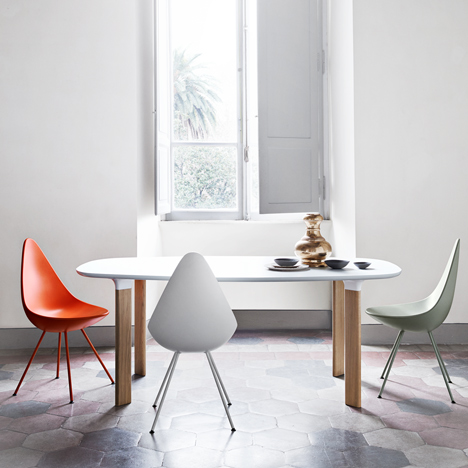 Drop Chair & Analog-Table-by-Jamie-Hayon