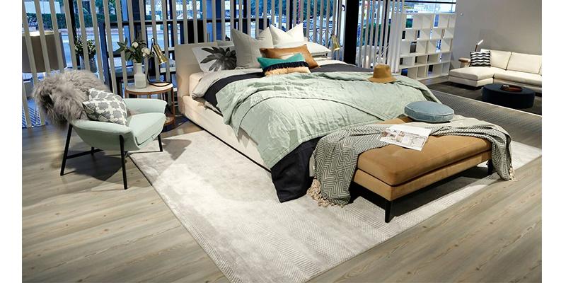 Bed Linen Jane Ledger Space Crush for King Living