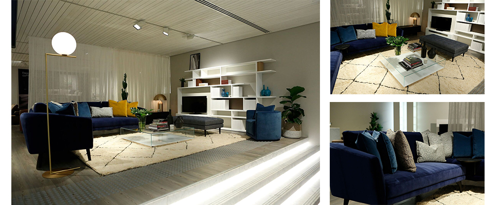 King Living loung styled by Neale Whitaker from Vogue Living